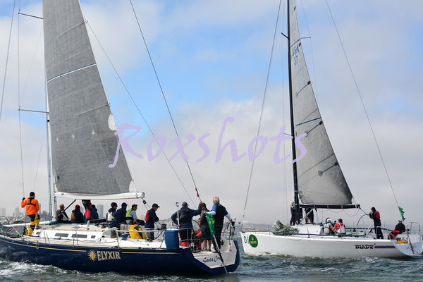 RBBS Day #1, Thurs. 9/15/16 off of Treasure Island, the pin end boat starts and finishes off of the StFYC race deck, race #2