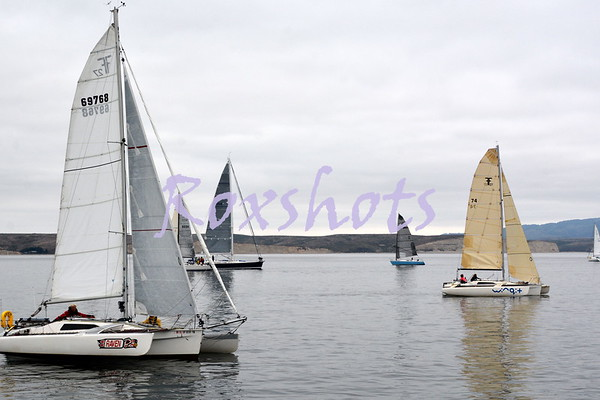 Drakes Bay Sun. start 8/27/16 with CYC RC on Eric's very nice Sabre boat the Henry Dean...