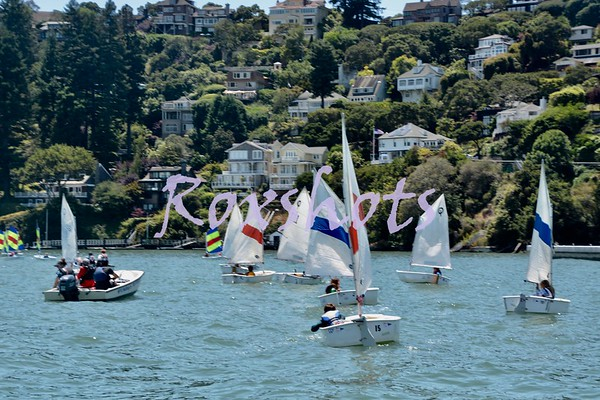SFYC Youth Sailors on the city front to watch the Pac Cup last day start Fri. 7/13/18