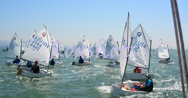 SFYC Opti PCC's on the circle, day #1, Sat. 8/26/17