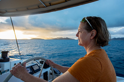 Sunset going towards Norman Island