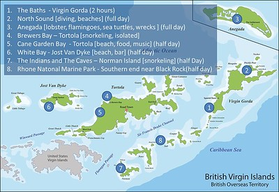 Our path around the BVI.