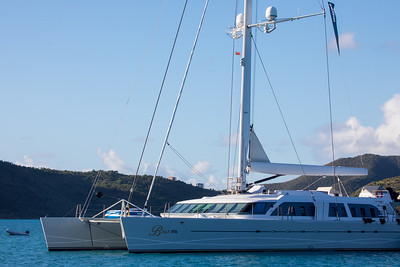 This used to be Bransons catamaran.  Now it is used commercially.