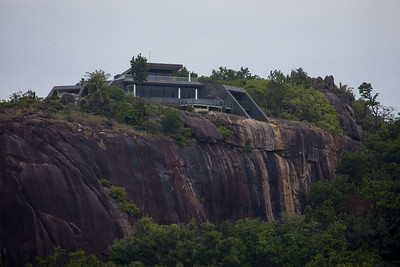 Looks very much lke the secred base of a James Bond villian but really a resort on Felicite Island.