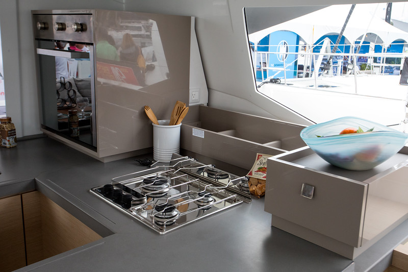 FP Astrea 52.  the stove has three burners and the oven in the back.