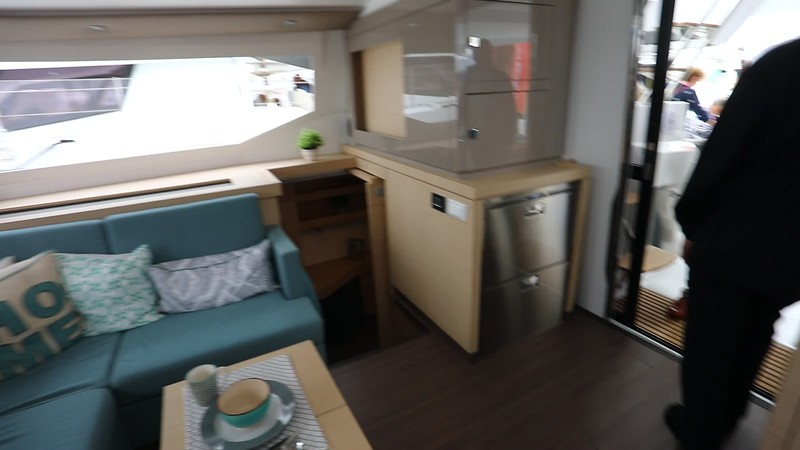 FP Astrea 42 Saloon with lots of refrigeration space, an over and a microwave.