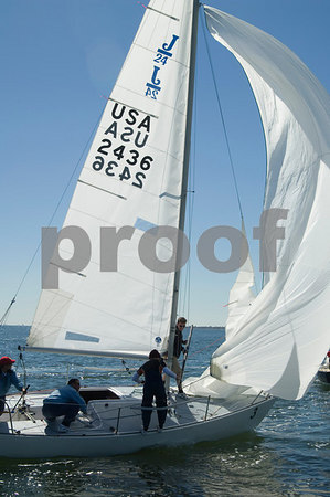 Pan Am Qualifiers for J24's Feb. '07, Bow #3, Sail #2436, Boat name- Jesus Lizard