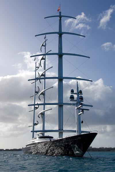 Maltese Falcon at anchor.