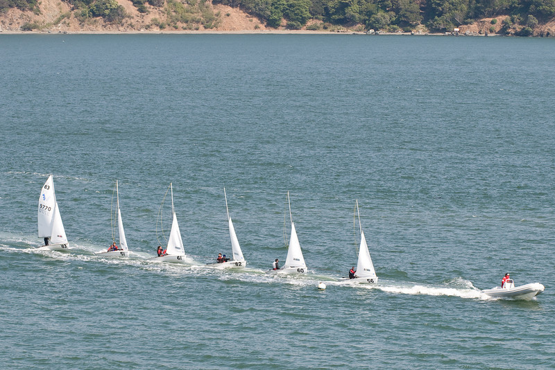 With Angel Island in the background the sailors returned to the dock.