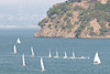 With Angel Island in the background the sailors returned to the dock.  The lucky ones got a tow...