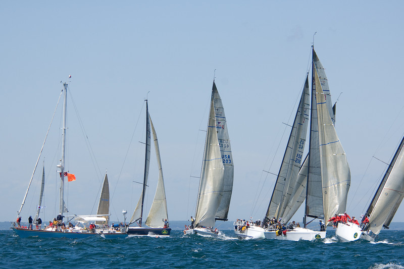 NYYC Swan 42s line up for the start.