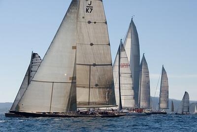 Fully modern J boat Velsheda at the start.