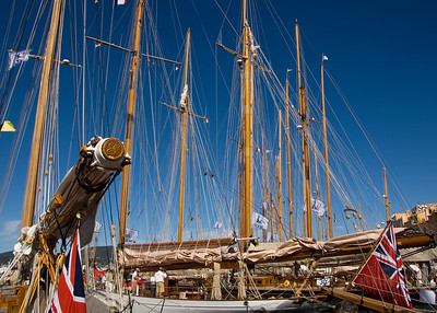 St. Tropez harbor scene.