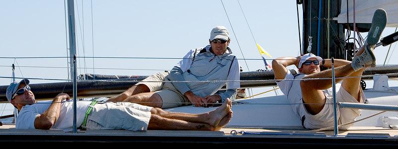 Pro sailors work very hard!