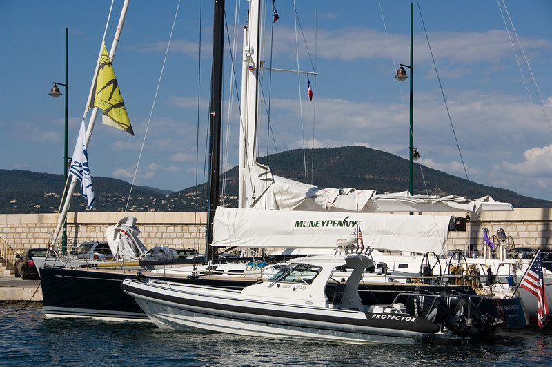 Odd Job and Moneypenney at the St. Tropez docks.