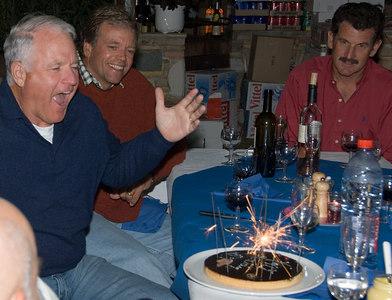 Jim's birthday celebration.