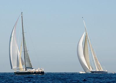 Moneypenny leads J boat Velsheda.
