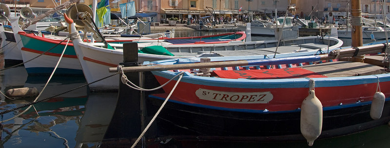 The fishing boats of St. Tropez.