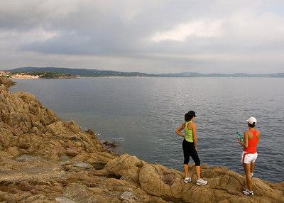 Hiking along the St. Tropez coast.