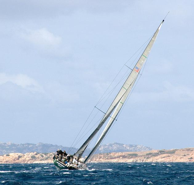 Upwind along the Sardinian coast.