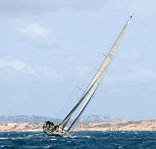 Upwind along the Sardinian coast.
