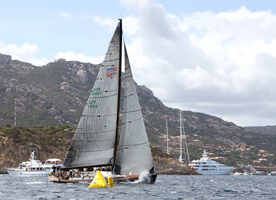 Moneypenny crosses the finish line to win the Swan 601 Swan Cup.