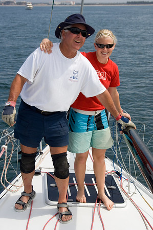 Our crack (cracked??) foredeck team!