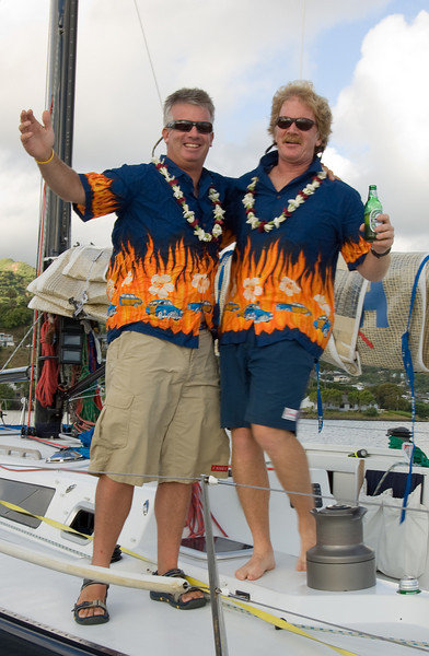 Competitors in the Ugle Hawaiian shirt contest -- seems they used the same mail-order web site.