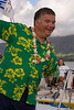 Bob didn't win the ugly Hawaiian shirt contest with this fine entry.