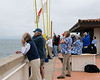 Pacific Yacht Club volunteers get the first round of racers started.