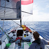 Day 3, AP up and sun out.  Beautiful sailing conditions.  This is the last time we saw the sun for 3 days.
