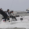 Charleston Race Week 2011 M24 Day 2 Practice : Melges 24's practicing for the Corpus Christi Worlds on Day 2 of Charleston Race Week 2011 when racing was called off. USA 749 Full Throttle, USA 811 WTF, USA 812 Brick House, USA 820 Air Force One ~ New England Ropes / West Marine.  All images are ©2011 Becky DaMore ~ Sail22.com and may not be used without permission.