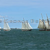 Schooners Amistad, Tyrone, Brilliant and Mystic Whaler  (right to left)