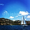 Casual finish in harbor.  Not much wind but beautiful day in paradise. @irrstyc #irr40 #usvi #stthomas @usvitourism #sailing