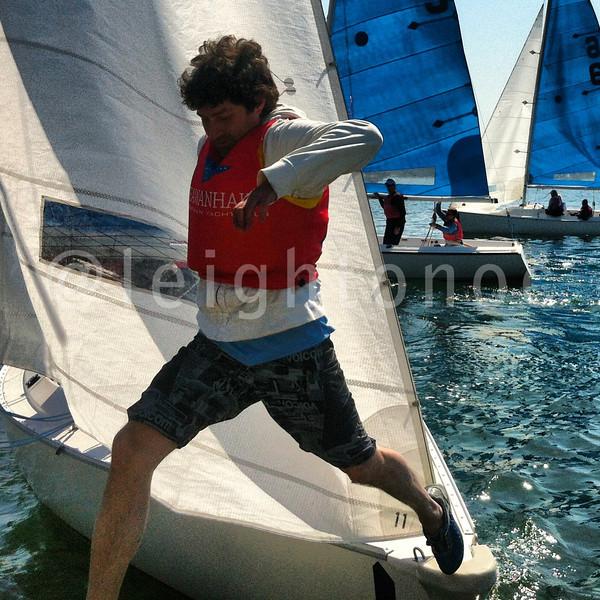 Man overboard at #jacksoncup team racing in Marblehead Harbor. #sailing