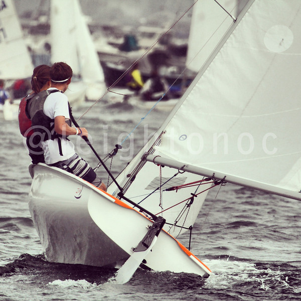 Rock stars beating the storm in.  #sailing