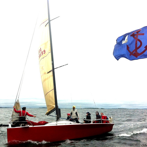 Go the Cone! Robert J. Hartl Memorial Regatta off of #Boston today. @courageoussail