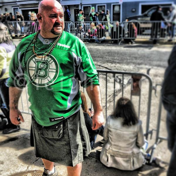 Go Bruins! Nice kilt.  #bruins @paradeboston #stpatricksboston #boston