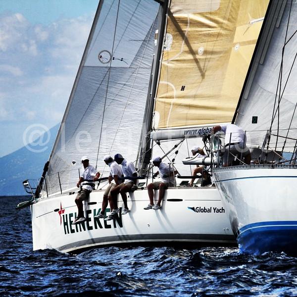 Live action from the water of the @sxmheineken #sxmheineken #sailing #regattas @vactionstmaarten @heineken #heineken