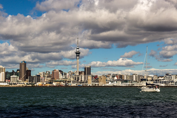 Sky Tower and downtown Auckland