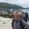 We walk to Gavin Maxwell's memorial at Sandaig