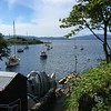 Crinan Boatyard summer mooring for Quarterwave - 'where the dream begins' as the yard sign says