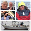 Nigel with son Matthew and niece Alison and her husband Hugh Inwood steering.