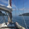 Through the Corrievrechan at ten knots thanks to favourable tide and no wind