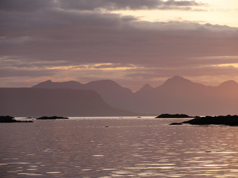 Rum behind Eigg from Arisaig