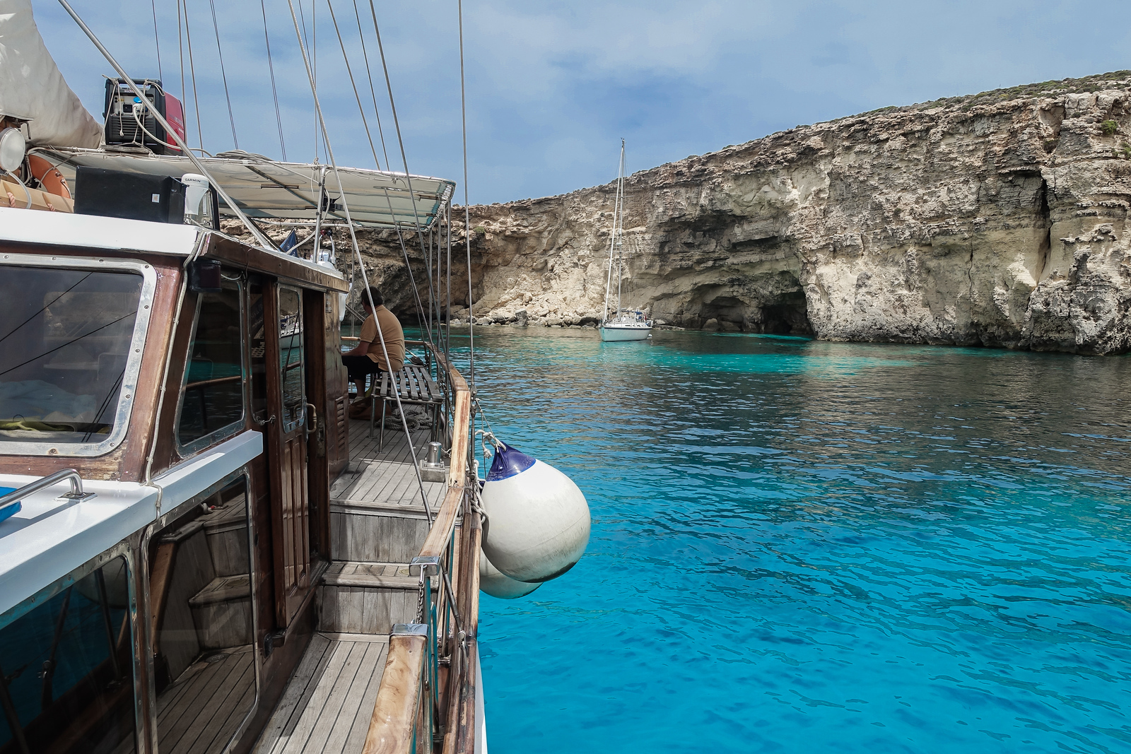 Sailing the Blue Lagoon in Malta