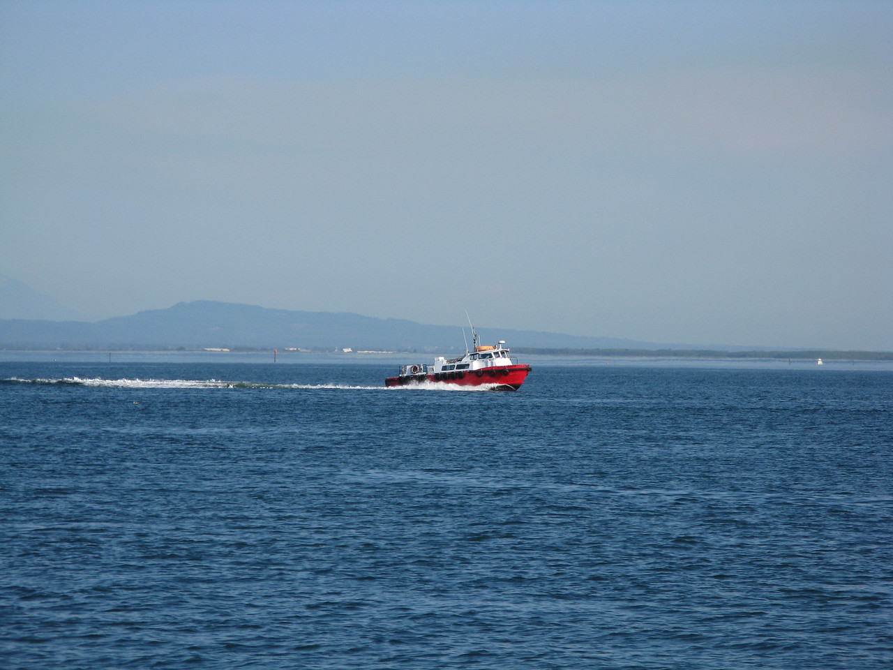 The pilot boat raced back to Anacortes.