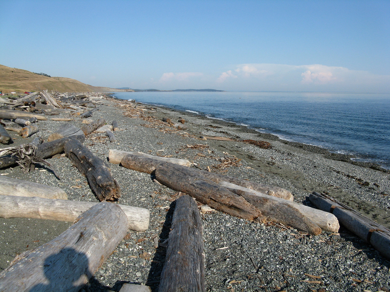 We drove down to American Camp at the southern tip of San Juan Island.  This is South Beach on the Strait of Juan de Fuca, looking southeast.
