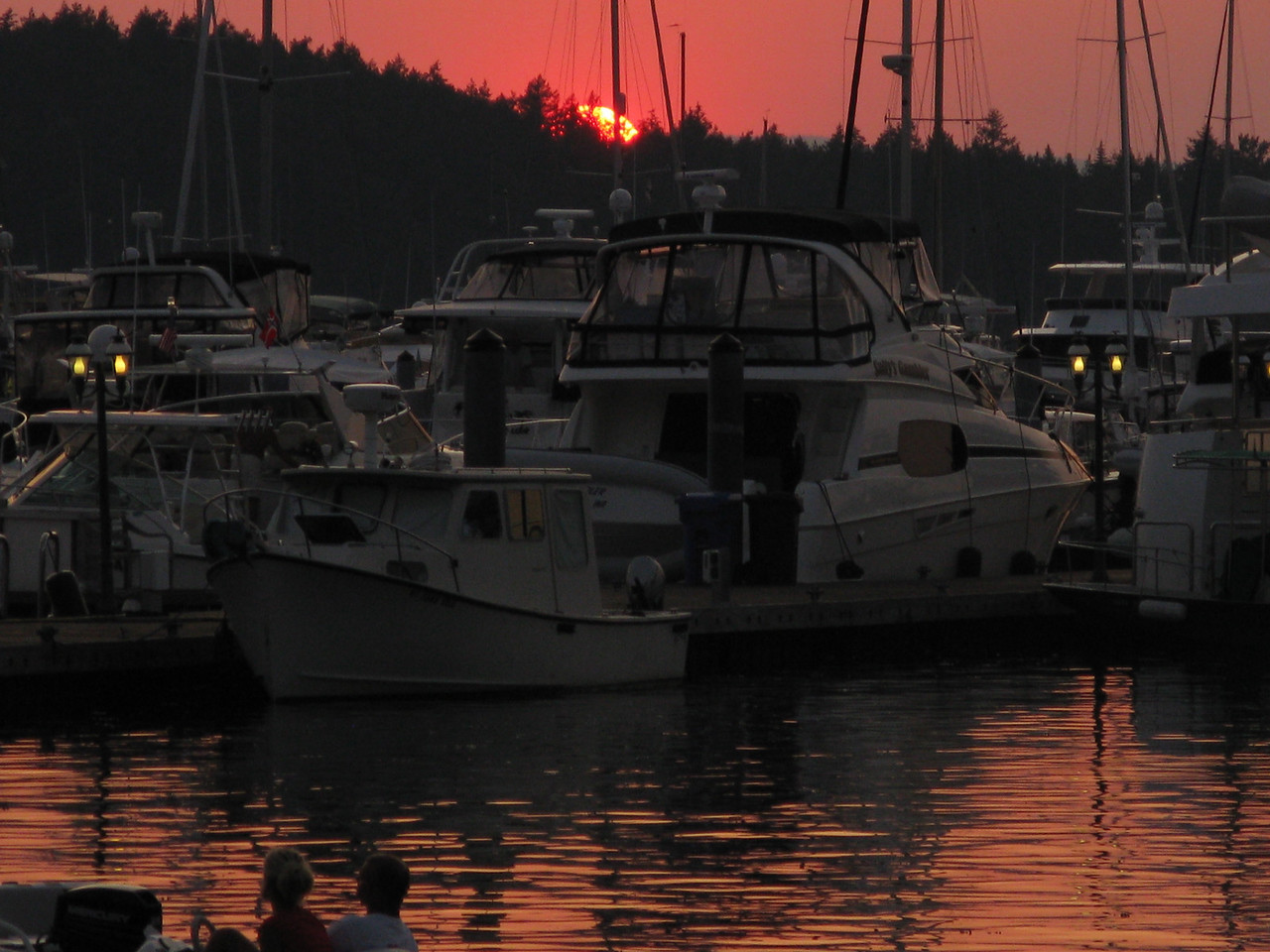 Sunset at Roche Harbor on Wednesday night.