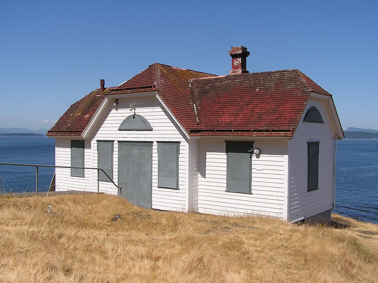 The abandoned Turn Point Lighthouse